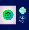 paraben free badge for laboratory approved natural vector image vector image
