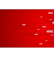 Red technology design with lines stripes and vector image vector image