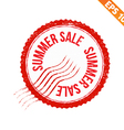 Rubber stamp summer sale - - EPS10 vector image