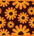 seamless summer orange calendula pattern vector image vector image