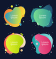 set abstract modern fluid colorful shape vector image