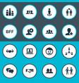 Set of simple buddies icons