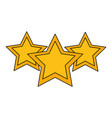 set stars party decoration vector image