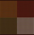 small autumn plaids vector image