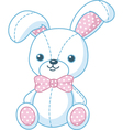 soft toy bunny vector image vector image