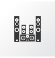 sound system icon symbol premium quality isolated vector image
