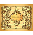 Steampunk style frame vector image