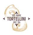 tortellini organic macaroni type italian cuisine vector image vector image