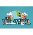 Travel Banner vector image vector image