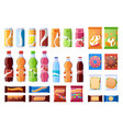 vending machine snack beverages sweets and vector image