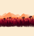 vertical mountains and forest with grass vector image vector image