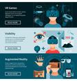 Virtual Reality Horizontal Webpage Banners Set vector image vector image