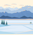 winter mountain landscape with snow vector image