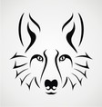 Wolf Face Tattoo vector image vector image