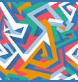 isometric geometric seamless pattern vector image