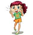 A cute little girl vector image
