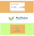 beautiful leafs logo and business card vertical vector image