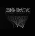 big data visualization network futuristic vector image