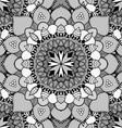 Black and White Mandala Patterned Background vector image