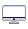 blank computer screen vector image vector image