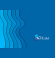 blue corporate minimal material waves abstract vector image vector image