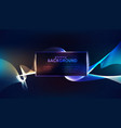 blue luminous lines over dark background vector image vector image