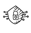 business safety hand drawn icon design outline vector image
