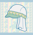cap with geometric pattern vector image