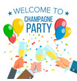 champagnes office party champagne bottle vector image vector image