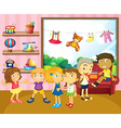 Children playing in the room vector image vector image
