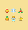 Christmas Icons 3 Flatten vector image vector image