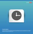 clock icon - blue sticker button vector image vector image
