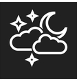 Cloudy with moon image to be used in web vector image