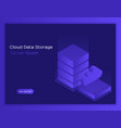 concept cloud data storage and server room vector image vector image