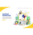 content marketing landing page website vector image vector image