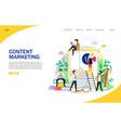 content marketing landing page website vector image