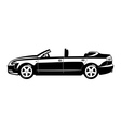 Convertible four door vector image vector image