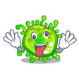 crazy virus cells bacteria microbe isolated mascot vector image vector image