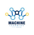 creative machine learning logo artificial vector image