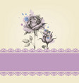 cute roses baby shower vector image