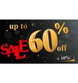 Discount sale banner vector image