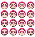 face impressions vector image