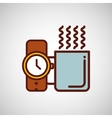 fathers day coffee and watch icon design vector image vector image