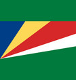 flag in colors of seychelles image vector image vector image