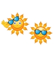 Funny sun in sunglasses vector image