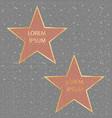 golden stars walk fame vector image