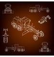 Grader road scraper Construction machinery vector image
