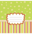 Greeting card template with a place for your text vector image vector image