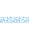 hanukkah blue background vector image vector image