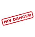 HIV Danger Rubber Stamp vector image